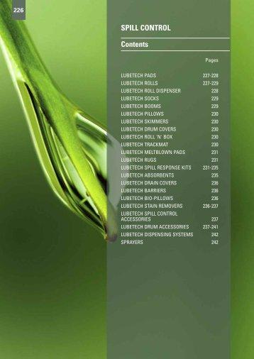 SPILL CONTROL Contents - Gibb Tools