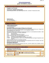 Sicherheitsdatenblatt - Rekord Holzmann