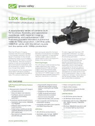 LDX Series Software Upgradable Camera System