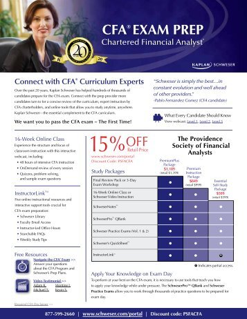 CFA® ExAm prEp - local CFA Societies
