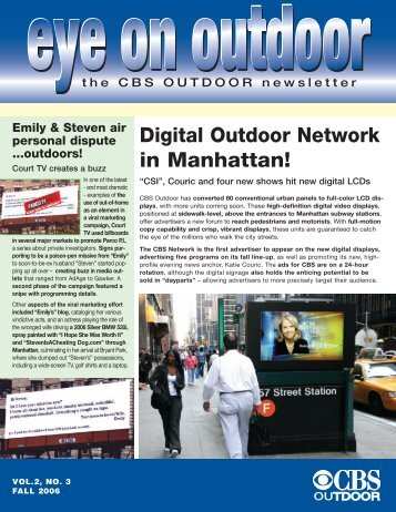 Digital Outdoor Network in Manhattan! - CBS Outdoor