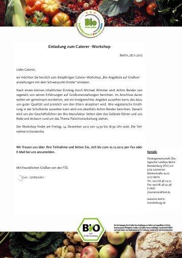 Einladung zum Caterer -Workshop - Bildungsserver Berlin ...