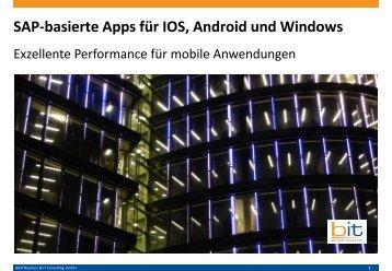SAP-basierte Apps für IOS, Android und Windows