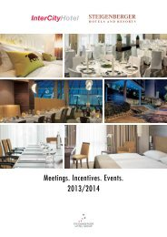 Meetings. Incentives. Events. 2013/2014 - Steigenberger Hotel Group