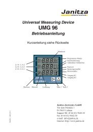 Achtung! - Janitza Electronics Gmbh