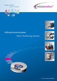 Mikropositioniersysteme Micro Positioning Systems - ORLIN ...