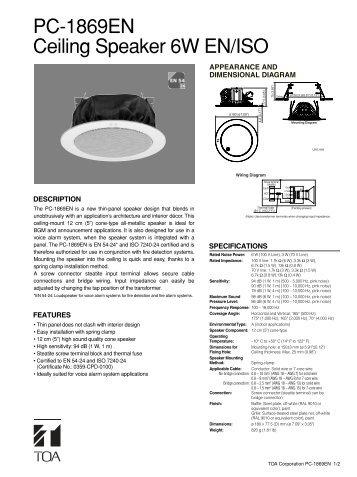 PC-1869EN Ceiling Speaker 6W EN/ISO - Eltek