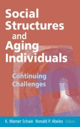 Social Structures and Aging Individuals - Springer Publishing