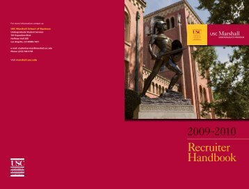 Recruiter Handbook - USC Marshall - University of Southern California