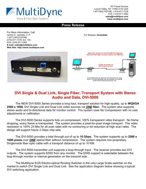 View Pdf Of This Press Release Multidyne