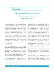 EDITORIAL Programas de vacunación en Bolivia