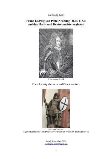 Das Hoch- und Deutschmeister-Regiment - Franz-Ludwig von Pfalz ...