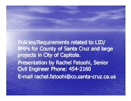 Stormwater Management and LID in Santa Cruz County