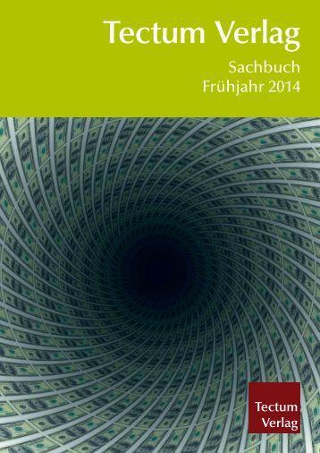 Aktuelle Sachbuchvorschau als pdf herunterladen - Tectum Verlag