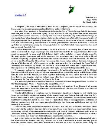 notes - Calvary Curriculum