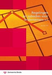 Regelingen en subsidies voor ondernemers >> - Gemeente Breda