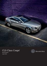 CLS-Class Coupé Equipment & Specifications - Mercedes-Benz