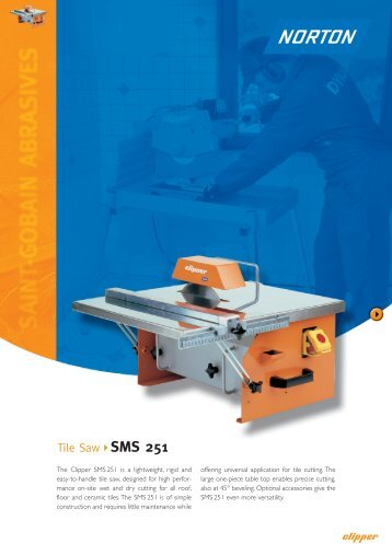 Tile Saw SMS 251 - Norton Construction Products