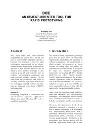 an object-oriented tool for rapid prototyping - Softwareresearch.net