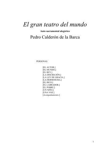 Calderon de la Barca - El gran teatro del mundo