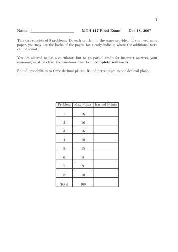 math 117 final exam phoenix university Physics 115/117 resources: resource documents: p111 to p115 content map math review exercises in math readiness (u of s math department) this document relates the old phys 111 midterm and final exams to the phys 115 lecture material phys 111 midterm exams: questions only.