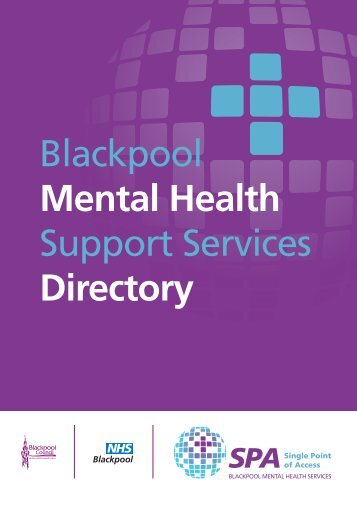 Blackpool Mental Health Support Services Directory - NHS Blackpool
