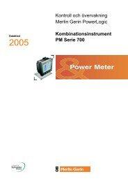 Datablad PM700 - Schneider Electric