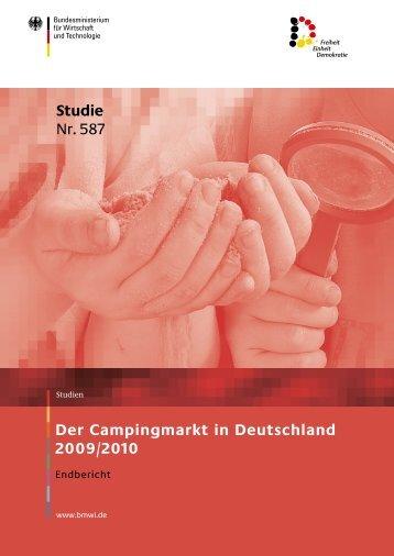 Der Campingmarkt in Deutschland 2009/2010 Studie Nr. 587 - BVCD