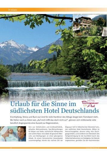 Firmus BKK Ausgabe 02/ 2012 – Hotel Birgsauer Hof in Oberstdorf