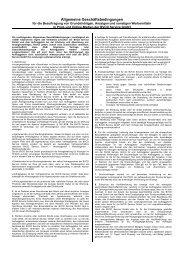 Allgemeine Geschäftsbedingungen - BVCD