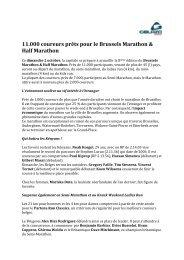 11.000 coureurs prêts pour le Brussels Marathon ... - VisitBrussels