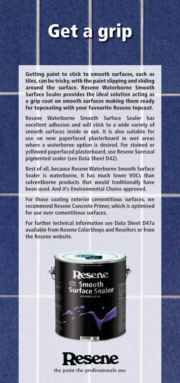 Resene Waterborne Smooth Surface Sealer