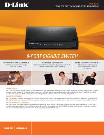 8-Port GiGabit Switch - ftp - D-Link