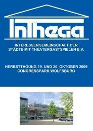 interessengemeinschaft der städte mit theatergastspielen ... - Inthega