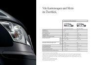 Datenblatt Vito Mixto und Kastenwagen - Mercedes-Benz Deutschland