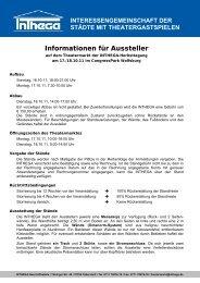 Informationen für Aussteller - Inthega