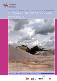 sustainable utilisation of quarry by-products - Sustainable Aggregates