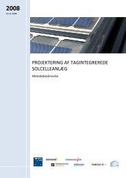 projektering af tagintegrerede solcelleanlæg - Energinet.dk