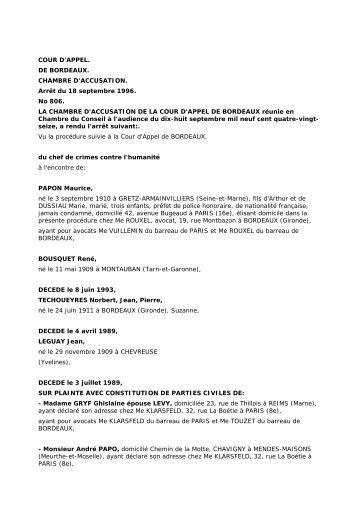 Cour d 39 appel de bordeaux adil for Chambre d accusation
