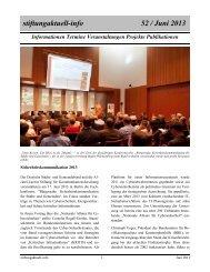 stiftungaktuell-info 52 / Juni 2013 - Alcatel-Lucent Stiftung für ...