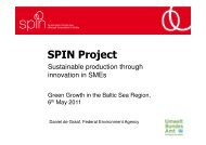 Sustainable Production through Innovation in SMEs