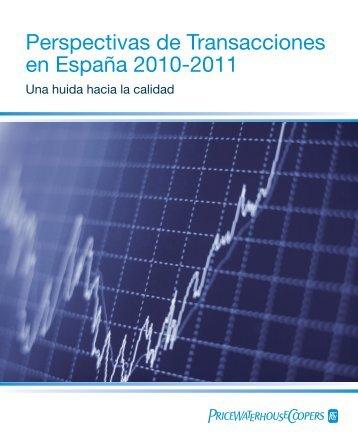 Perspectivas de Transacciones en España 2010-2011 - pwc