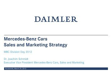 marketing mix elements of mercedes benz Ford motor company's marketing mix or 4ps (product, place, promotion & price) is shown in this case study and analysis on the company & automotive industry.