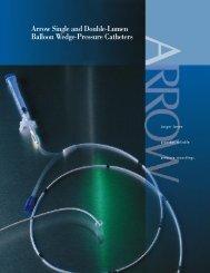 Arrow Single and Double-Lumen Balloon Wedge-Pressure Catheters