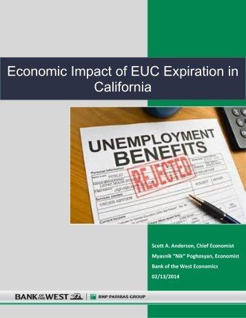 Economic Impact of EUC Expiration in California