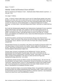 Glasklar: Lindau und Konstanz setzen auf Kabel - Stadtwerke Lindau