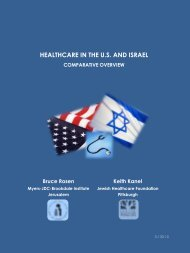 healthcare in the us and israel - Jewish Healthcare Foundation