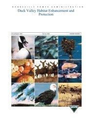 Duck Valley Habitat Enhancement and Protection: - Bonneville ...