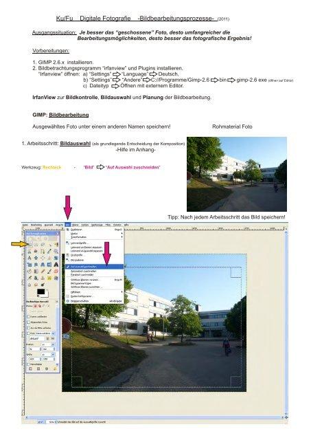 Digitale Bildbearbeitung in GIMP - Evangelisches Gymnasium ...