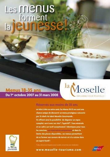 3937_Menu 18-35_flyer A5.indd - Tourisme en Lorraine